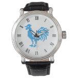 Gallo azul reloj de mano