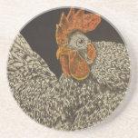 gallo barrado de la roca posavasos diseño