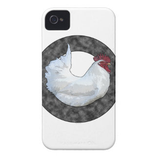 Gallo blanco funda para iPhone 4