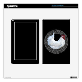 Gallo blanco pegatinas skins para kindle fire