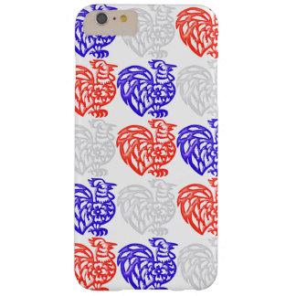 Gallo blanco y azul rojo funda para iPhone 6 plus barely there