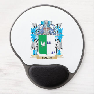 Gallo Coat of Arms - Family Crest Gel Mousepads