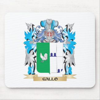 Gallo Coat of Arms - Family Crest Mousepads