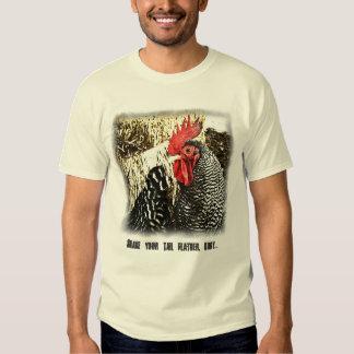 Gallo + Cola de la gallina, camiseta divertida del Camisas