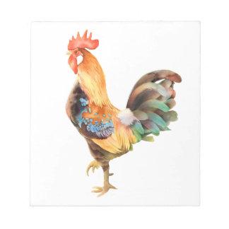 Gallo coloreado vibrante blocs de papel
