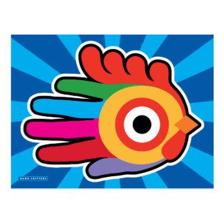 Gallo colorido de la buena mañana postales