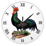 Gallo colorido orgulloso elegante del país del vin reloj