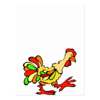 Gallo colorido postales