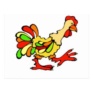 Gallo colorido tarjetas postales