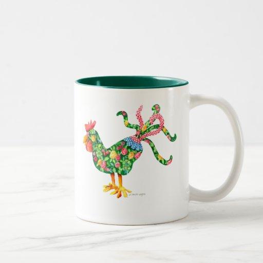 Gallo con instinto taza