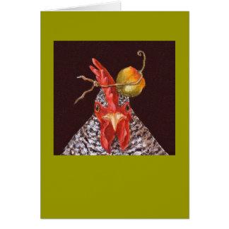 gallo con la tarjeta del habanero