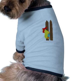 Gallo de cacareo camisetas de perrito