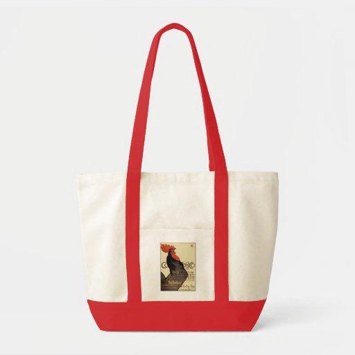 Gallo de Cocorico por Steinlen - arte Nouveau Bolsa
