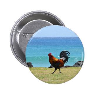 Gallo de Kauai Pin Redondo De 2 Pulgadas