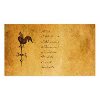 Gallo de la acción de gracias tarjetas de visita