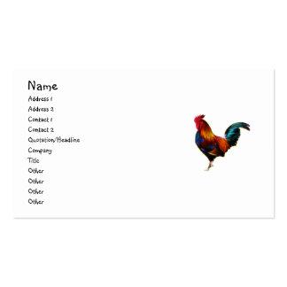 Gallo de la Leghorn de Fractalius Tarjetas De Visita