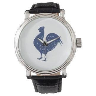 Gallo de la púrpura del vintage reloj