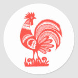 gallo de los años 50 etiqueta redonda