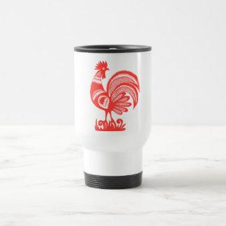 gallo de los años 50 taza térmica