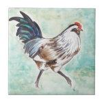 Gallo de Pascua Egger de la acuarela Tejas