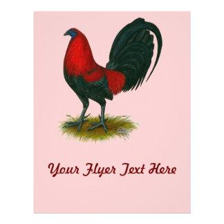 Gallo de pelea americano:  Rojo de Brown Flyer Personalizado