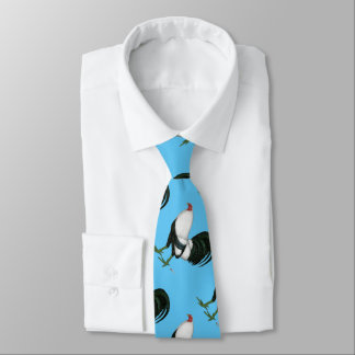 Gallo de pelea Duckwing de plata Corbatas Personalizadas