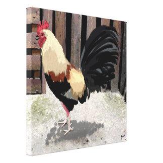 Gallo de Pelea/gallo de pelea estiró la impresión  Impresión En Lienzo Estirada