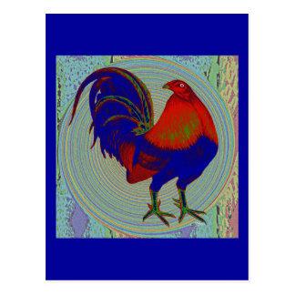 Gallo de pelea:  Gallo impresionista Tarjeta Postal