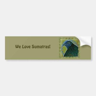 Gallo de Sumatra enmarcado Pegatina Para Auto