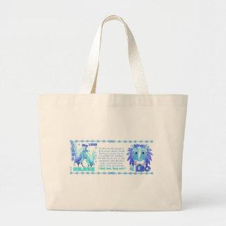 Gallo del agua del zodiaco de ValxArt llevado 1933 Bolsa Tela Grande