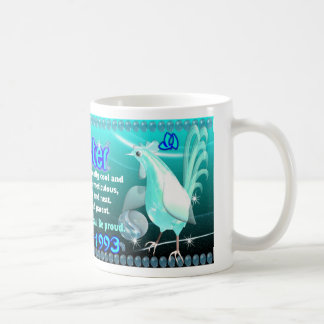Gallo del agua del zodiaco de ValxArt llevado 1933 Taza Clásica