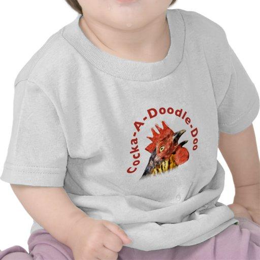 Gallo del Gallo-UNO-Doodle-Doo Camisetas