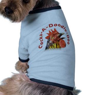 Gallo del Gallo-UNO-Doodle-Doo Camisetas De Mascota