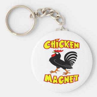 Gallo del imán del pollo llavero redondo tipo pin