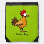 gallo del pollo de la granja divertida - apenas añ mochila