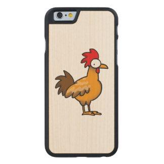 gallo del pollo de la granja divertida funda de iPhone 6 carved® slim de arce