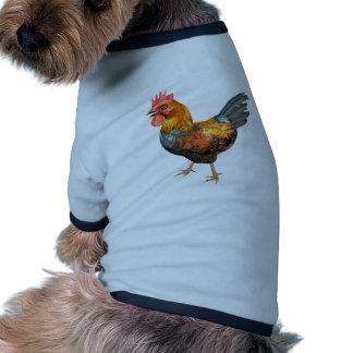 Gallo del pollo ropa de perro