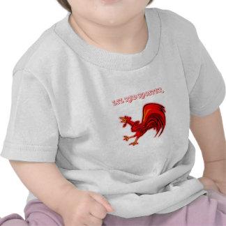 Gallo del rojo de Lil Camiseta