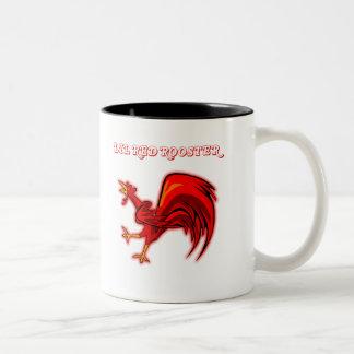 Gallo del rojo de Lil Taza De Café De Dos Colores
