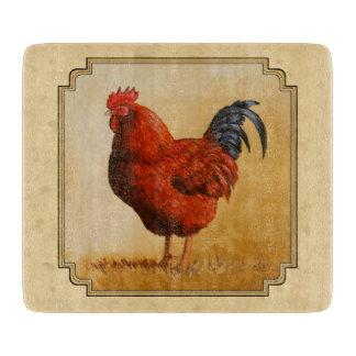 Gallo del rojo de Rhode Island Tabla Para Cortar