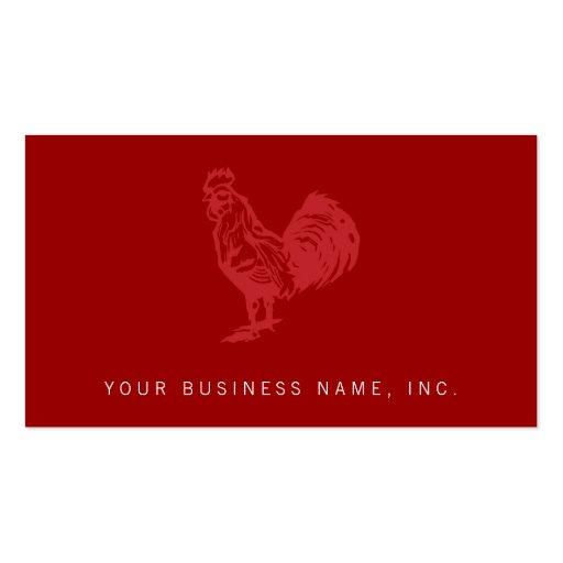 Gallo del rojo del estilo de la prensa de copiar plantillas de tarjetas de visita
