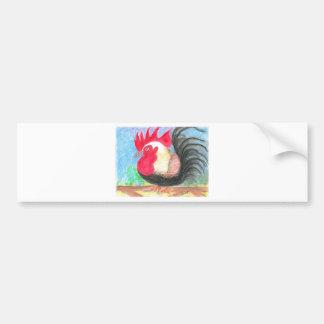 gallo del rollo etiqueta de parachoque