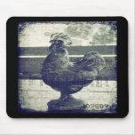 Gallo del vintage del vidrio alfombrillas de ratones