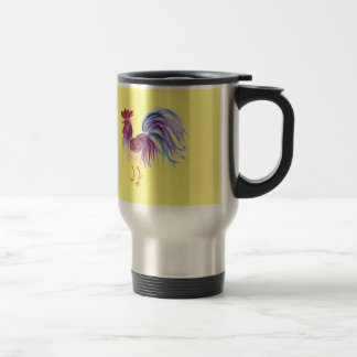 Gallo en colores pastel de EelKat Wendy C Allen Taza De Viaje