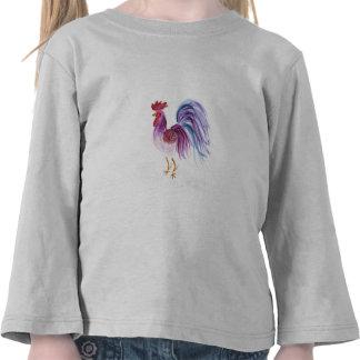 Gallo en colores pastel de Wendy C. Allen Camiseta