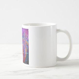 Gallo en el horizonte taza de café