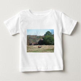 Gallo en la foto de la granja de Sandy Closs. Playera