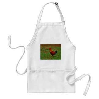 Gallo en la yarda delantal