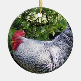 Gallo en los jardines ornamentos de reyes magos