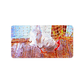 gallo en remolinos del extracto del muelle etiquetas de dirección